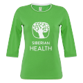 Promo T-shirt for women (color: green, size: 50/XL, 3/4 length sleeves)