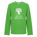 Promo T-shirt for men (color: green, size: 46/M, long sleeves)