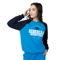 Siberian Super Team sweatshirt for women (color: blue; size: M)