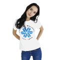 Siberian Wellness T-shirt for women (color: white, size: S)