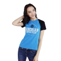 Siberian Super Team CLASSIC T-shirt for women (color: blue, size: S)